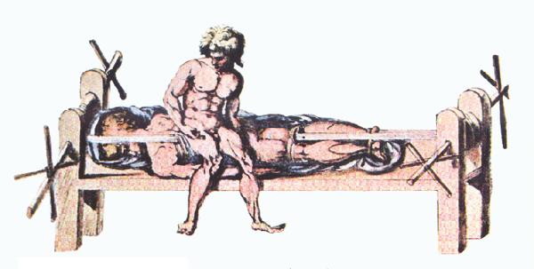 醫治病人時所用的「希式長凳」